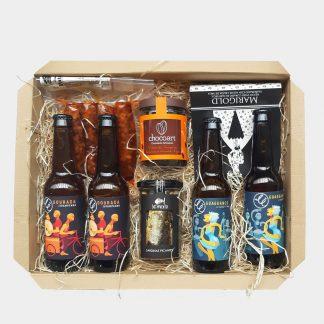 cesta regalo cerveza artesanal